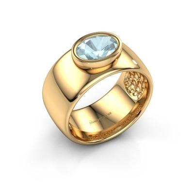 Ring Anouschka 585 gold aquamarine 8x6 mm