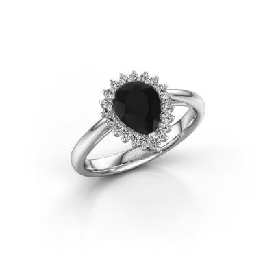 Foto van Verlovingsring Tilly per 1 925 zilver zwarte diamant 1.25 crt