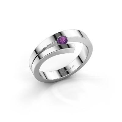 Ring Rosario 925 zilver amethist 3 mm