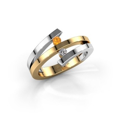 Ring Synthia 585 goud citrien 2.5 mm