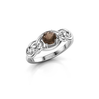 Picture of Ring Zoe 925 silver smokey quartz 5 mm