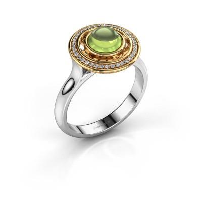 Ring Salima 585 witgoud peridoot 6 mm