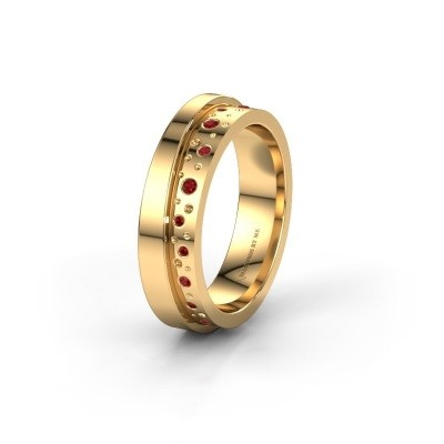 Wedding ring WH6016L15E 585 gold ruby ±0.20x0.1in