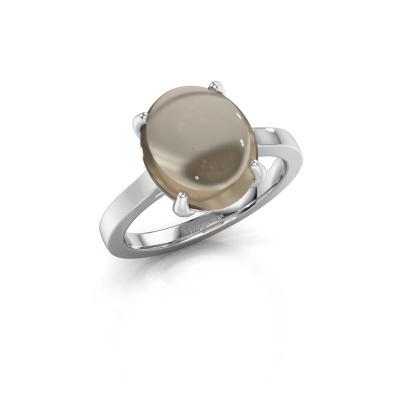 Foto van Ring Mallie 1 925 zilver rookkwarts 12x10 mm