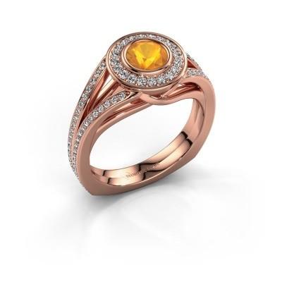 Foto van Ring Kellee 375 rosé goud citrien 5 mm