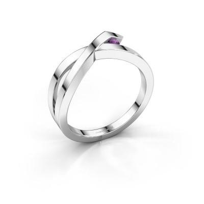 Ring Alyssa 925 silver amethyst 2 mm