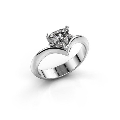 Ring Arlette 585 witgoud zirkonia 7 mm