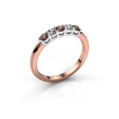 Foto van Promise ring Michelle 5 585 rosé goud rookkwarts 2.7 mm