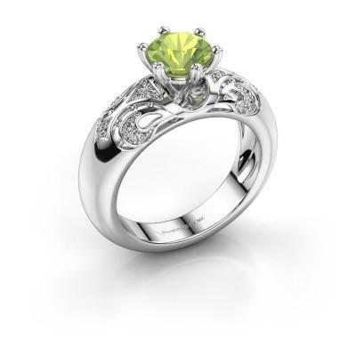 Ring Maya 585 Weißgold Peridot 6.5 mm