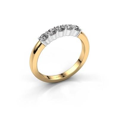 Foto van Verlovingsring Yasmin 5 585 goud lab-grown diamant 0.50 crt