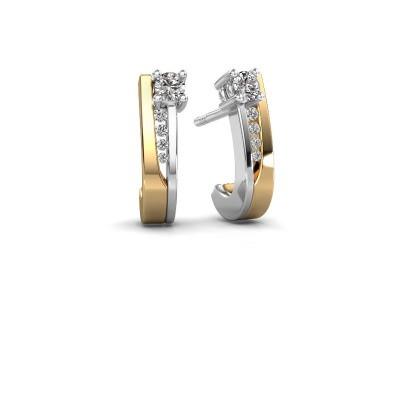 Oorbellen Jewell 585 goud zirkonia 2.7 mm