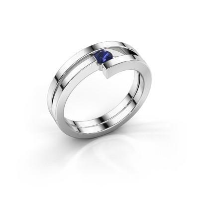Foto van Ring Nikia 925 zilver saffier 3.4 mm