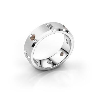 Herren ring Irwin 950 Platin Braun Diamant 0.64 crt
