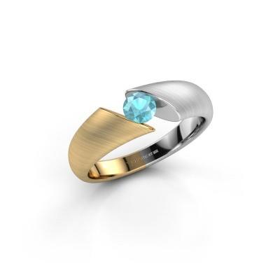 Foto van Ring Hojalien 1 585 goud blauw topaas 4.2 mm