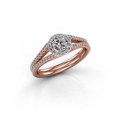Engagement ring Verla 2 585 rose gold diamond 0.584 crt