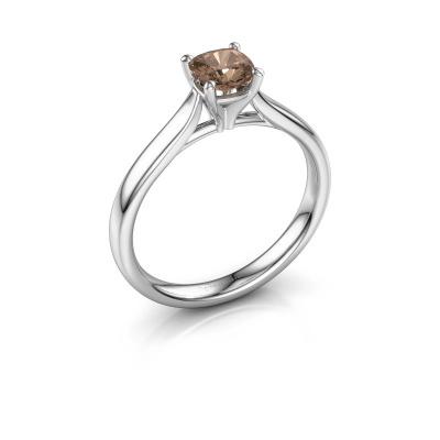 Verlobungsring Mignon cus 1 950 Platin Braun Diamant 0.50 crt