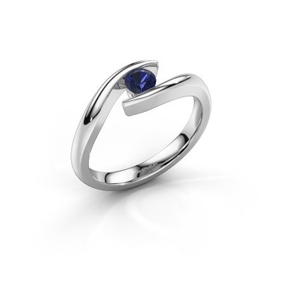Picture of Engagement ring Alaina 585 white gold sapphire 4 mm