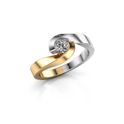 Foto van Ring Sheryl 585 goud diamant 0.25 crt