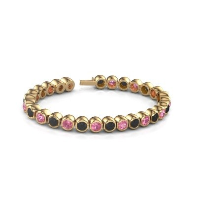 Tennisarmband Delma 375 goud roze saffier 5 mm