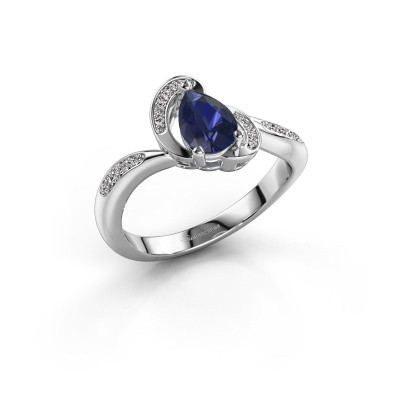 Picture of Ring Jonelle 585 white gold sapphire 7x5 mm