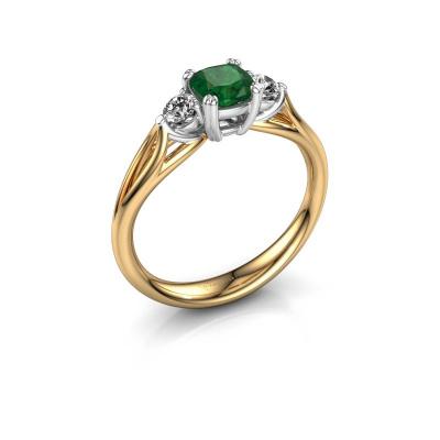 Verlobungsring Amie cus 585 Gold Smaragd 5 mm