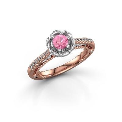 Verlobungsring Abbey 585 Roségold Pink Saphir 4.2 mm
