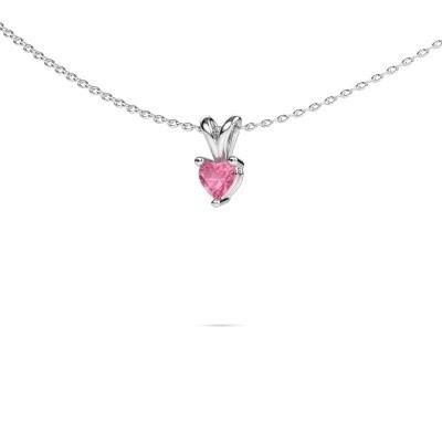 Picture of Necklace Garnet 950 platinum pink sapphire 4 mm