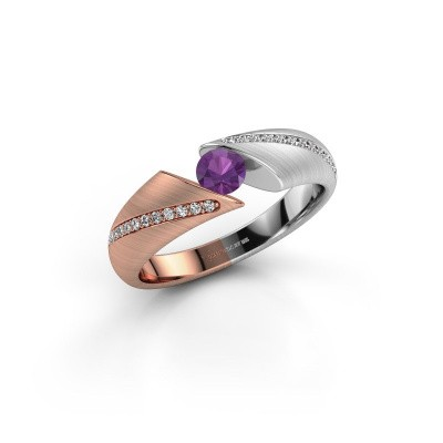 Picture of Ring Hojalien 2 585 rose gold amethyst 4 mm