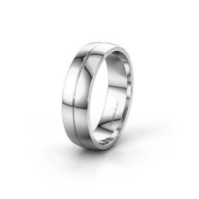 Wedding ring WH0200M26AP 950 platinum ±0.24x0.07 in
