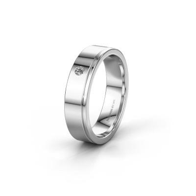 Trouwring WH0501L15AP 925 zilver zirkonia ±5x1.7 mm