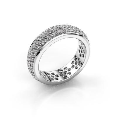 Ring Tara 585 witgoud zirkonia 1.3 mm