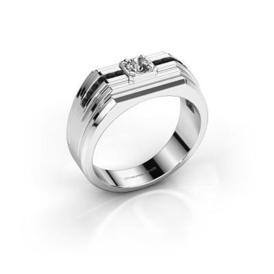 Foto van Heren ring Oliver 585 witgoud zirkonia 4 mm