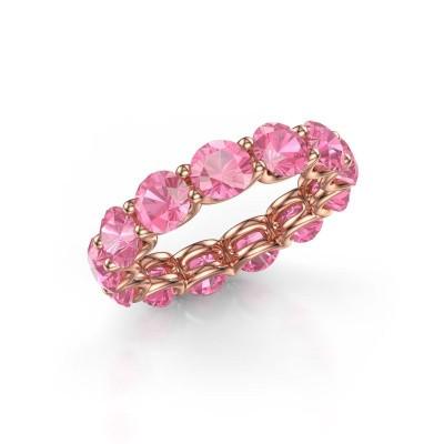 Foto van Ring Kirsten 5.0 375 rosé goud roze saffier 5 mm
