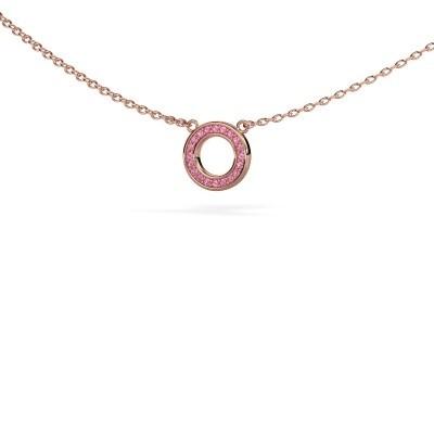 Hanger Round 2 375 rosé goud roze saffier 0.8 mm