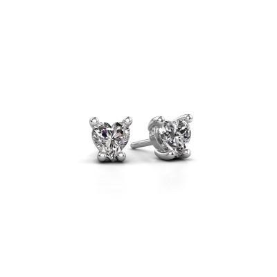 Oorbellen Sam Heart 950 platina lab-grown diamant 0.50 crt