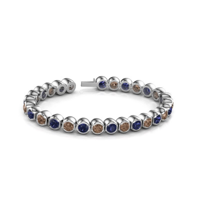 Foto van Tennisarmband Bianca 5 mm 585 witgoud bruine diamant 7.00 crt