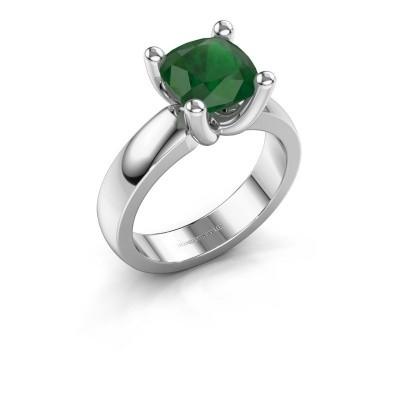 Ring Clelia CUS 950 platina smaragd 8 mm