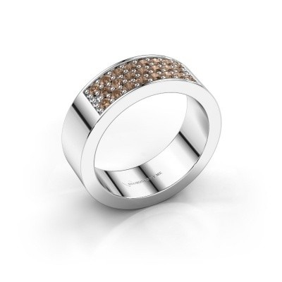Ring Lindsey 5 925 zilver bruine diamant 0.46 crt