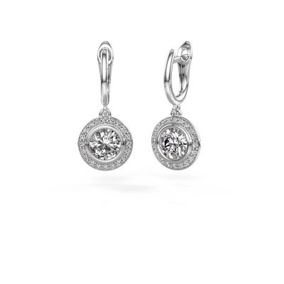 Foto van Oorhangers Noud RND 925 zilver diamant 2.40 crt