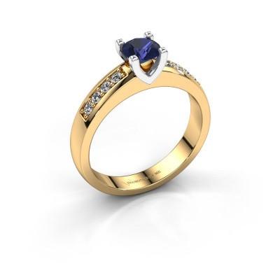 Verlovingsring Isabella 2 585 goud saffier 5 mm