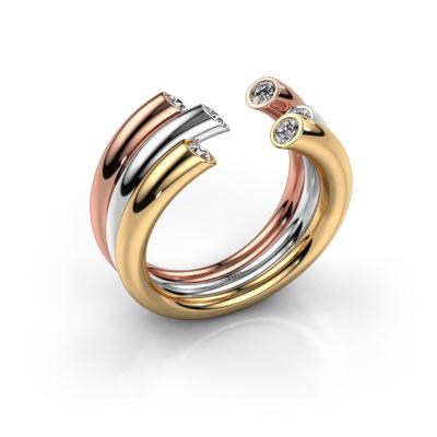 Ring Noelle 585 Gold Zirkonia 2.4 mm