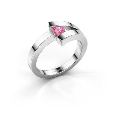 Ring Sofia 585 Weißgold Pink Saphir 3.7 mm