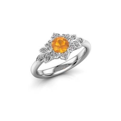 Engagement ring Tatjana 585 white gold citrin 5 mm