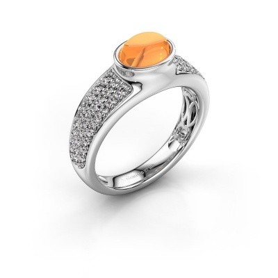 Ring Tatyana 950 platina citrien 7x5 mm