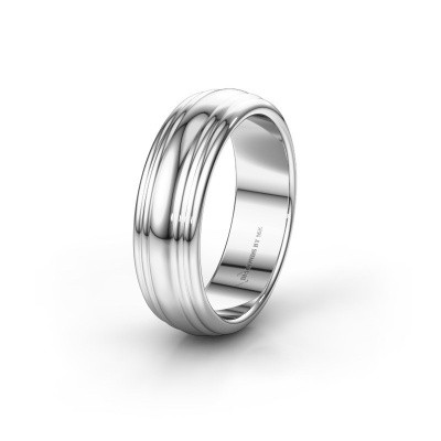 Trouwring WH2234MN 585 witgoud ±6x2 mm