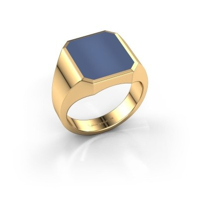 Picture of Signet ring Lars 3 585 gold blue sardonyx 14x12 mm
