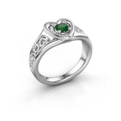 Picture of Ring Eura 585 white gold emerald 4 mm