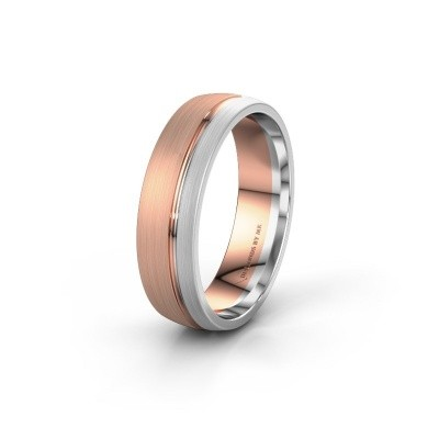 Wedding ring WH0322M25AM 585 rose gold ±6x1.7 mm