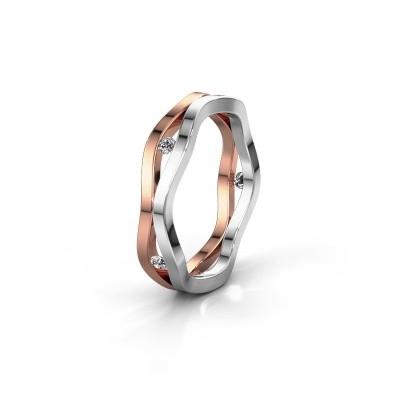 Trouwring WH2122L 585 rosé goud lab-grown diamant ±5x1.8 mm