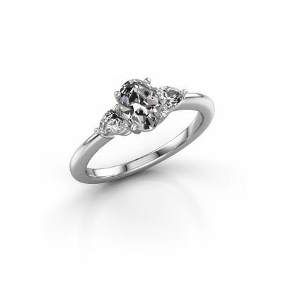 Foto van Verlovingsring Chanou OVL 950 platina diamant 1.42 crt